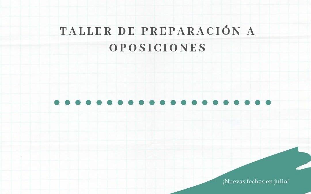 Taller de preparación a oposiciones
