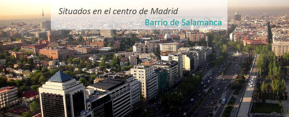 Situados en el centro de Madrid - Barrio de Salamanca