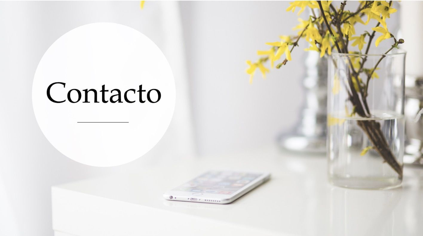 Pagina de contacto de ITACO Psicología